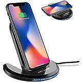 ELEGIANT Chargeur sans Fil, Chargeur à Induction Pliable Station de Rechargement Rapide pour IPhone 8/8 Plus/X Samsung Galaxy S8 /S8 Plus /S7 /S7 Edge et Autres Compatibles avec Qi