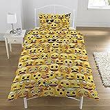 Emoji Rotary - Set copripiumino e federa, colore: giallo, per letto singolo