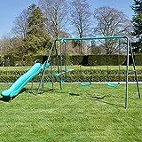 Rebo Children's Metal Garden Play Set Range, Single Swing, Double Swing, Single Swing