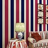 Yosot Amerikanische Vertikale Gestreifte Haustapete Boy Girl Bedroom Hintergrund Wand Vlies Tapete