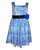 Perky Girl's Cotton Frock (Blue,3-4 Year...