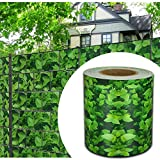 HG® protezione privacy, 65m x 19cm, a strisce, a doppia asta, in PVC, protezione solare, per la recinzione in giardino o balcone, con clip di fissaggio