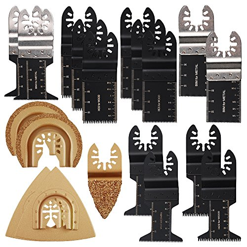 OxoxO Oscillating Tool Blades,Professional Oscillating Multitool Saw Blades & Carbide Grit Blade Fit Dewalt Fein Multimaster Porter Cable Black & Decker