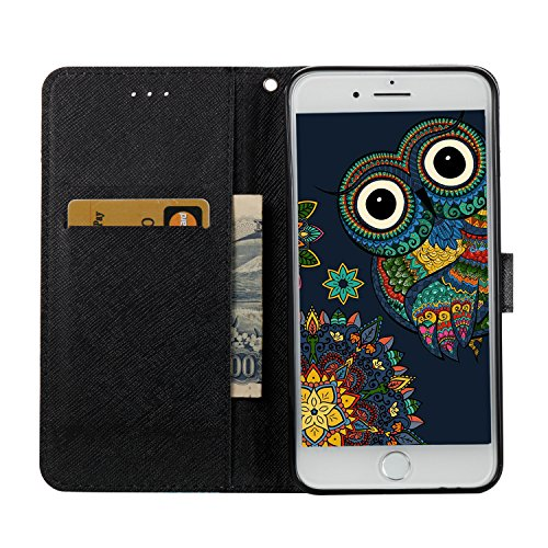 iPhone 7 Plus Wallet Case Flip Cover [gratis gehärtetem Glas Displayschutzfolie + 1 STYLUS PEN] Newstars NEU Modernes 3D Colorful Funny Cute Muster Print Aufdruck Full Body Design – Funkeln Bling Glit K- Cows Series 2