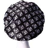 [Patrocinado]Dilly de colecciones de lujo y gran microfibra de la ducha Caps Ultra protectora baño sombrero adulto/adolescente Popular gran diseño de pato, Damask, X-Large