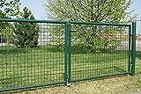 BETAFENCE Gartentor grün-Besch. 2-flügelig 3000x1250