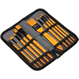 10-piece brush set, used for acrylic watercolor painting, watercolor gouache oil painting, with nylon fleece tote bag