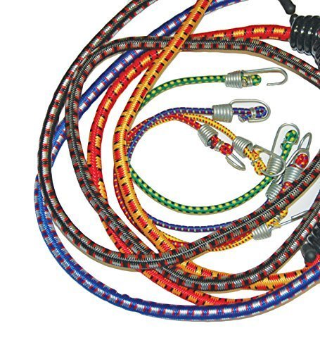 S-Line SL42 Assorted Standard Bungee Cords 20-Piece, Four 12-Inch, Two 18-Inch, Two 24-Inch, One 32-Inch, Six Canopy Bungees, Five Minis by S-Line - Cord-one Piece