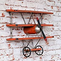 Industrial Style American Village Aircraft Model Wall Decoration Retro Style Aircraft Wing Creative Wall Mount Shelf, MTX Ltd