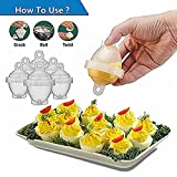 Set Uova Sode/10 Pezzi, Senza Guscio, Silicone Antiaderente, Bracconiere, Bollito, Piroscafo (10 Tazze Per Uova Sode + 1 Separatore Di Uova)