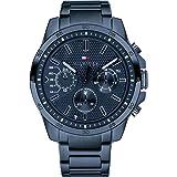 ساعة يد بمينا باللون الازرق وسوار من الستانلس ستيل للرجال من تومي هيلفيجر- 1791560