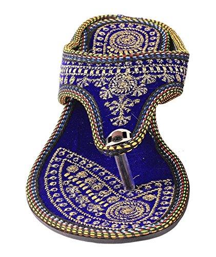 RGKs-Women-Girls-Rajasthani-Jaipuri-Jutti-Mojari-Rajasthani-Zari-Work-Designer-Velvet-Chappal-001-voilet-red-color