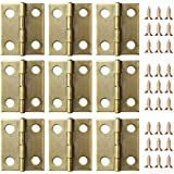 eBoot 50 Stück Mini Schrank Schublade Scharnier mit 200 Stück 5 mm Mini Messing Scharnier Ersatz Schrauben