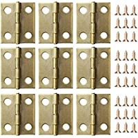50 Stück Mini Schrank Schublade Scharnier mit 200 Stück 5 mm Mini Messing Scharnier Ersatz Schrauben