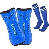 Lifreer Football Shin Pads, 3 Sizes Soccer Shin Guards Socks, Shin Pads Boys, Kids Football Socks for Boys And Girls Football
