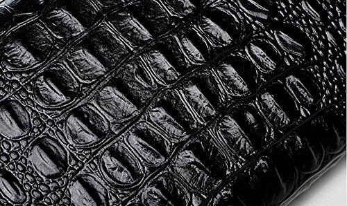 Handbeutel, Damehandbeutel, Diamantbohrgeräthandbeutel, Art und Weisetendenzleder großer Kapazitätsfaltblatt, Bankettabendbeutel ( Farbe : Schwarz ) Weiß