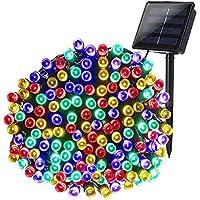 Qedertek Guirlande Solaire Extérieure 200 LED Multicolore 22 Mètres 8 Jeux de lumière Guirlande Lumineuse pour la Décoration Noël, Jardin, Mariage, Anniversaire