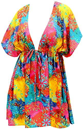 Liege Nachtwäsche (La Leela Frauen Bademode Liege Kleid Designer sundress und Bikini-Vertuschung mehrfarbig)