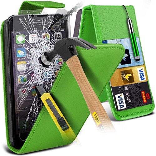 Aventus ( Red ) Apple iPhone 6S Plus Case Custom Made Custom Made magnétique flip couverture en cuir avec la peau Card Slot Housse + verre trempé avec Chiffon & Stylus écran tactile Pen Leather Flip + Tempered ( Green )