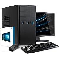Kiebel Office PC mit Monitor [184218] Komplett-Set PC Intel i5 8400 6x2.8GHz (Turbo bis 4.0GHz)   8GB DDR4   1TB HDD   Intel HD Grafik 630   USB3   DVD   LAN   Sound   Maus+Tastatur   Büro Computer   Business Sytem   Windows 10 Pro