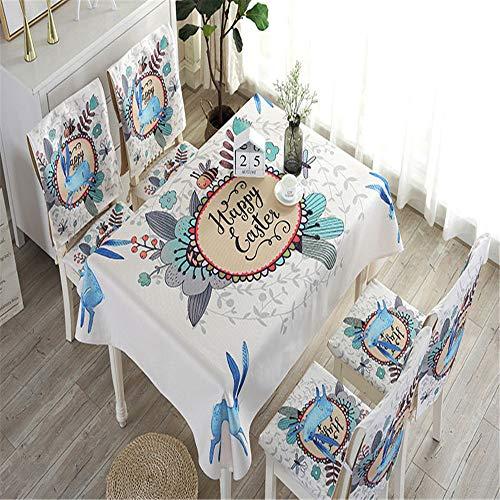 QWEASDZX Tischtuch Baumwolle und Leinen wasserdichte rechteckige Tischdecke Multifunktions-Rückenlehne Sitzkissen Geeignet für Innen- und Außenrückenhandtuch