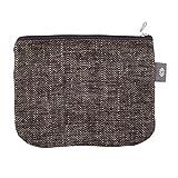 Große Kosmetiktasche Schwarze Leinen Handtaschen - 100% Leinen Schminktasche - Natürliche Leinwand Make-up Tasche | Handgefertigte durch ThingStore