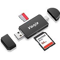 Vanja Speicherkartenleser, SD/TF Kartenleser und USB Type C Micro USB OTG Adapter für SDXC, SDHC, SD, MMC, RS-MMC, Micro…