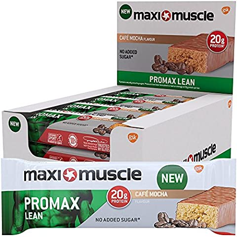 Maximuscle Promax Lean High Protein Bar, 60 g - Cafe Mocha, Pack of 12