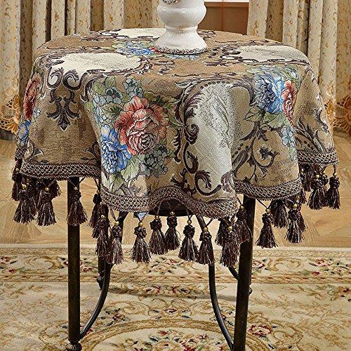 Maillot marron, meuble, maison, grande, rond, nappe, salon, nappe ( taille : 100cm )