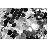DekoWoerner Pailletten-Stoff Silber 125cm Breit
