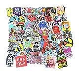 greestick 100 Stk Stickerbomb Tuning Motive Wie Abgebildet Aufkleber Farbig Auto Skateboard Helm Laptop Gepäck Decals