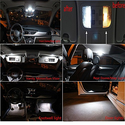 Preisvergleich Produktbild Muchkey® Canbus-LED-Birnen,  18 Stück,  keine Fehlermeldung,  3 W,  12 V,  für Tür-,  Decken-Kennzeichenbeleuchtung und Leselicht,  Xenonweiß
