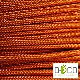 Cavo elettrico tondo rotondo rivestito in tessuto colorato Arancio Arancione 10 metri 2x0,75 per lampadari, lampade, abat jour, design. Made in Italy!