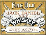 2237Extra Large Fine Old Jack Daniel No. 7WHISKEY VINTAGE STYLE NOSTALGIC Werbung Metall Wand Schild retro Art