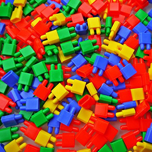 Magideal Educational Puzzle Kids Rocket Head Bullet Shape Building DIY Game Block Toy
