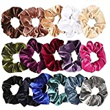 16xNamgiy Hair Ties Elastics Ponytail Holders Hair Bobbles Hair Bands Thick Snag Free Endless For Women Girls Baby