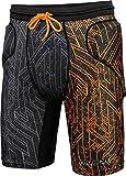 Reusch CS Short Padded kurze gepolsterte Unterziehhose Torwart schwarz-orange black/shocking orange, XL