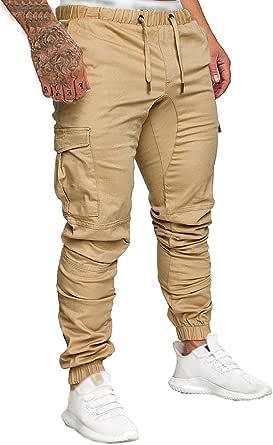 Socluer Homme Pantalons Casual Jeans Sport Jogging Slim Fit Militaire Cargo Montagne Baggy Pants Multi Poches Grande Taille M-4XL