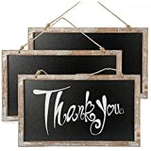 ONEDONE Vintage enmarcada de la pizarra de la cocina de la pizarra-decorativo tablero de tiza de signos boda rústica, Cocina copa y decoración de la pared (27*45cm)