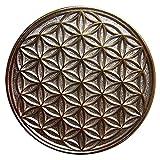 EnerChrom Blume des Lebens Auto-Glücksbringer Metall-Magnet-Plakette (BiColor) 3,5 Zentimeter