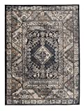 We Love Rugs - Carpeto Großer Traditioneller Perserteppich - Grau Anthrazit - Perser Keshan Orientalisches Muster - Ferahan- Ziegler Ornamente - Top Qualität Pflegeleicht Teppich EMIRAT 140 x 200 cm