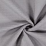 Fabulous Fabrics Waffelpiqué - grau - Meterware ab 0,5m -