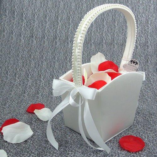 1x Streukörbchen Hochzeit EinsSein® Nora Blumenkinder Hochzeit Blumenkorb Blumenkörbe Blumenmädchen Blumendeko basket girl flower - 2