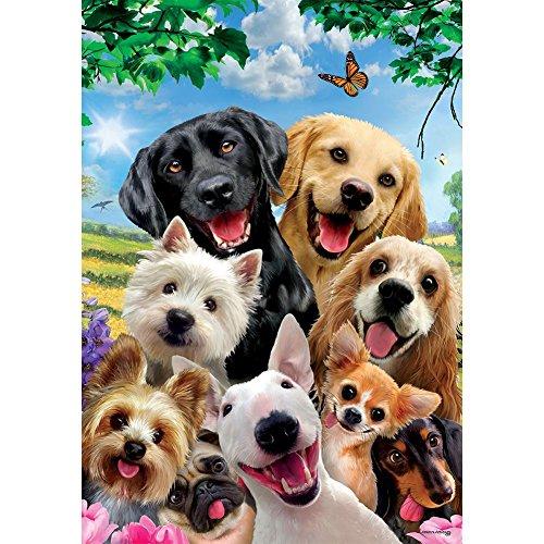 Custom Decor Hund Selfie-Deko Garten Größe 30,5x 45,7cm Doppelseitig Flagge, Lizenz, Markenzeichen, Copyright von Inc. in Den USA Bedruckt