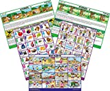 #5: Set of 5 Mirror Coat Educational Charts : Set 9 (English Alphabets, Good Habits, Bad Habits, Stories 1 & Stories 2)