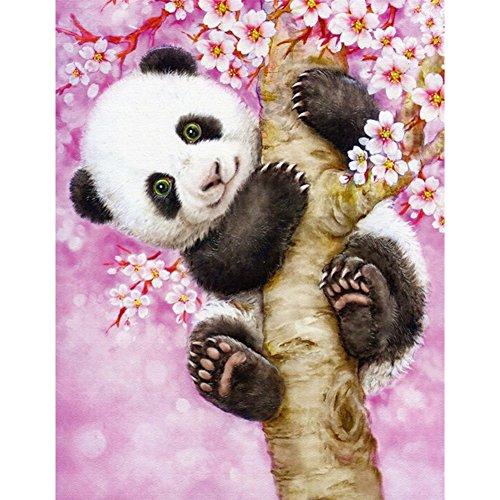 Amazingdeal365 DIY 5D Diamant Malen nach Zahlen Kits Creative süße Panda 32*40cm (Panda Kit)