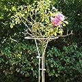 Videx Rosenständer Mainau, Höhe 90 cm, silber von VIDEX GmbH & Co. KG bei Du und dein Garten