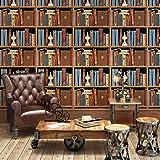 BBSLT Armarios de pared Retro dormitorio Salón antecedentes en el estudio de stereo de estantería de libros Café American wallpapers