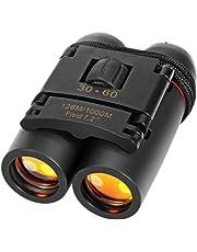 Aqtus 30 X 60 Zoom Mini Travel Folding Day Night Vision Binoculars Telescope Night Vision for Outdoor Activity Hiking, Climbiing, Birdwatching, Boating Etc- Binoculars