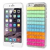 Apple Iphone 6 Plus Handyhülle Cover Hülle Case 3D Steine Strass Glitzer gelb Decui Gelb Hartplastik Schutzhülle